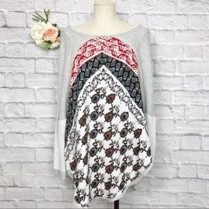 Free People Patchwork Print High Low Tunic Size SP